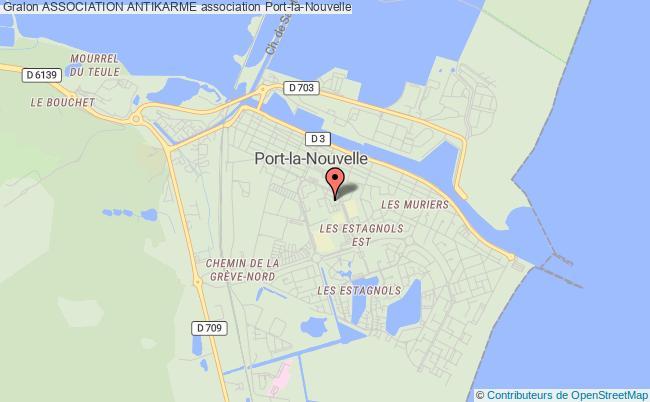 plan association Association Antikarme Port-la-Nouvelle