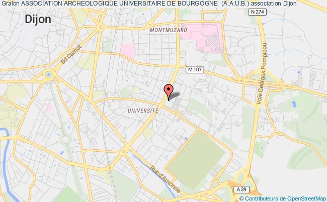 plan association Association Archeologique Universitaire De Bourgogne  (a.a.u.b.)