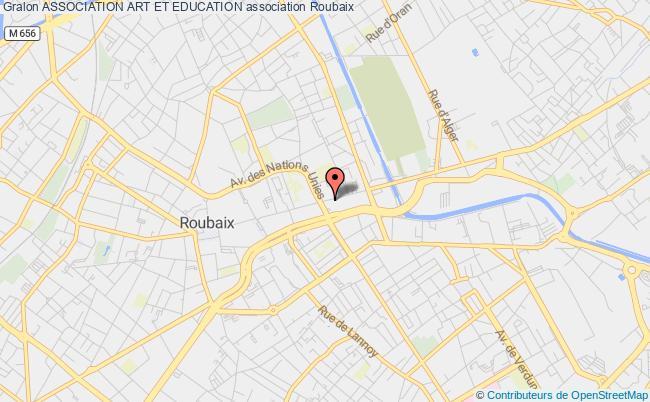 plan association Association Art Et Education Roubaix