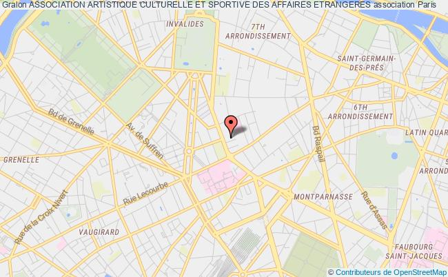 plan association Association Artistique Culturelle Et Sportive Des Affaires Etrangeres