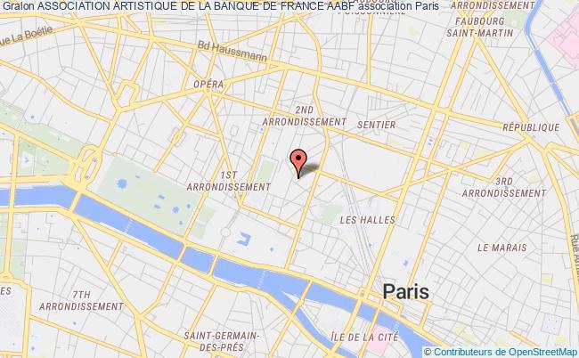 plan association Association Artistique De La Banque De France Aabf
