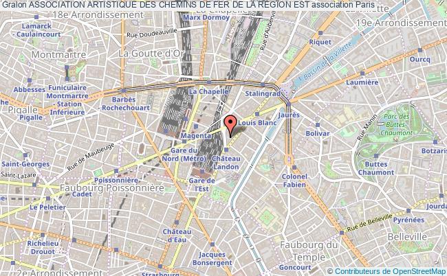 plan association Association Artistique Des Chemins De Fer De La Region Est