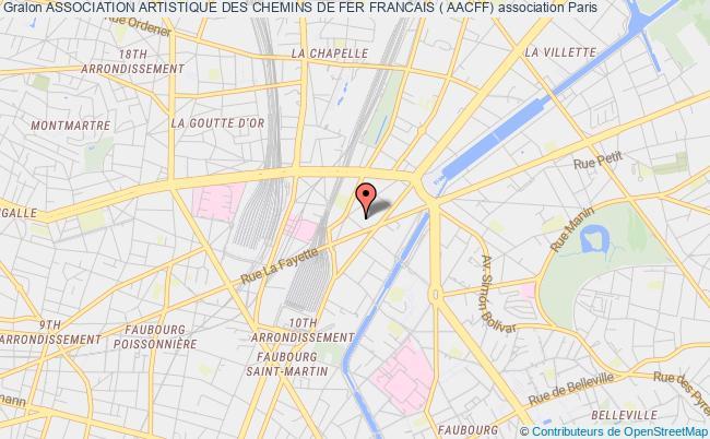 plan association Association Artistique Des Chemins De Fer Francais ( Aacff)