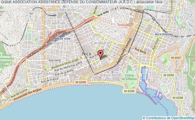 plan association Association Assistance Defense Du Consommateur (a.a.d.c.) Nice