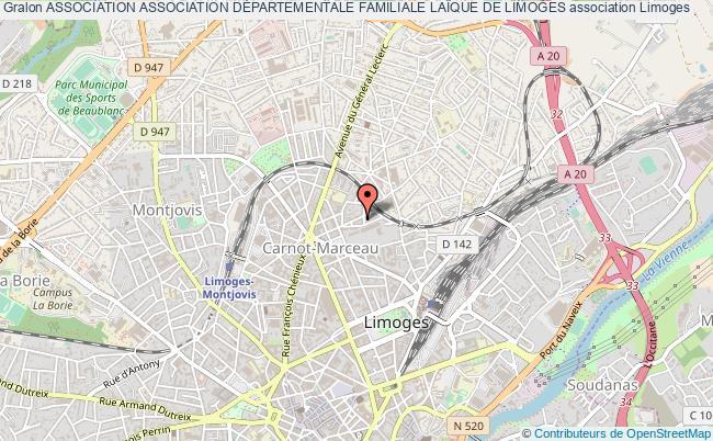 plan association Association Association DÉpartementale Familiale LaÏque De Limoges
