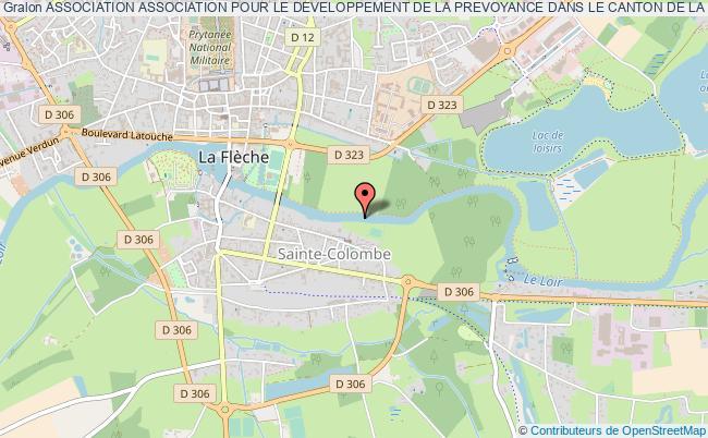 plan association Association Association Pour Le Developpement De La Prevoyance Dans Le Canton De La Fleche.