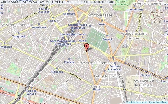 plan association Association Aulnay Ville Verte, Ville Fleurie