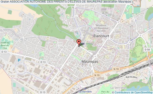 plan association Association Autonome Des Parents D'eleves De Maurepas Maurepas
