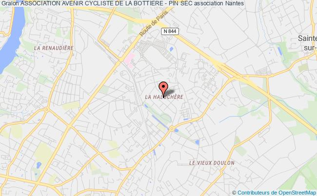 plan association Association Avenir Cycliste De La Bottiere - Pin Sec