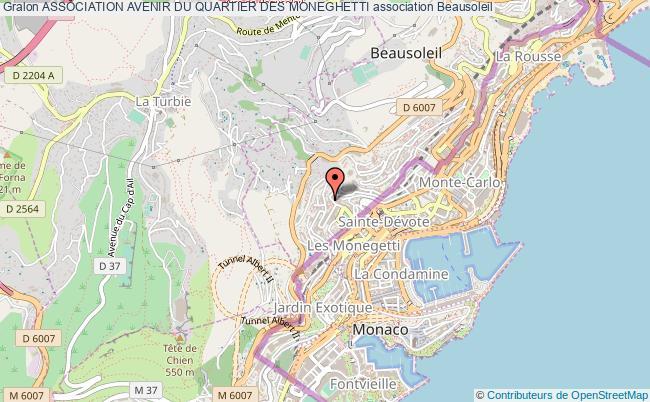 plan association Association Avenir Du Quartier Des Moneghetti
