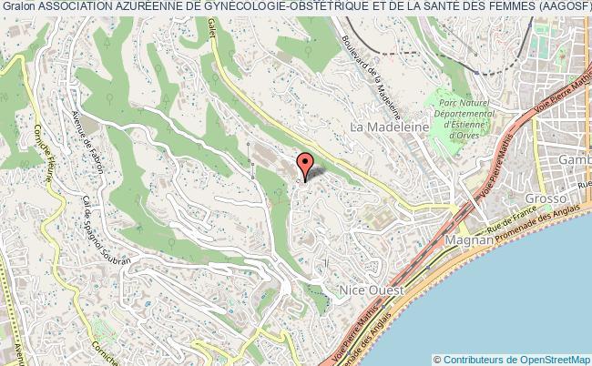 plan association Association AzurÉenne De GynÉcologie-obstÉtrique Et De La SantÉ Des Femmes (aagosf) Nice