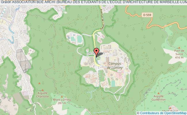 plan association Association Bde Archi (bureau Des Etudiants De L'ecole D'architecture De Marseille-luminy)