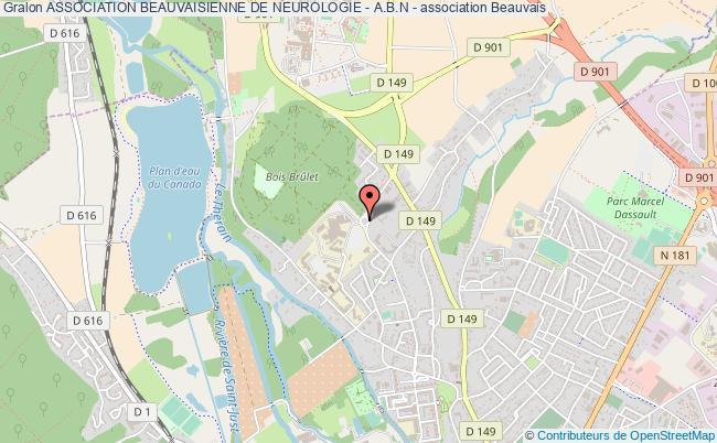 plan association Association Beauvaisienne De Neurologie - A.b.n - Beauvais