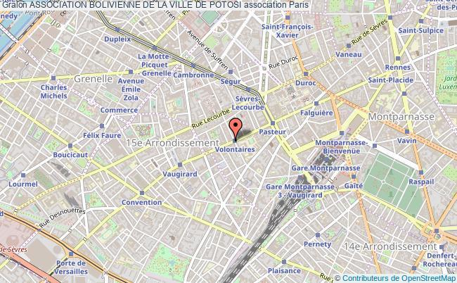 plan association Association Bolivienne De La Ville De Potosi Paris