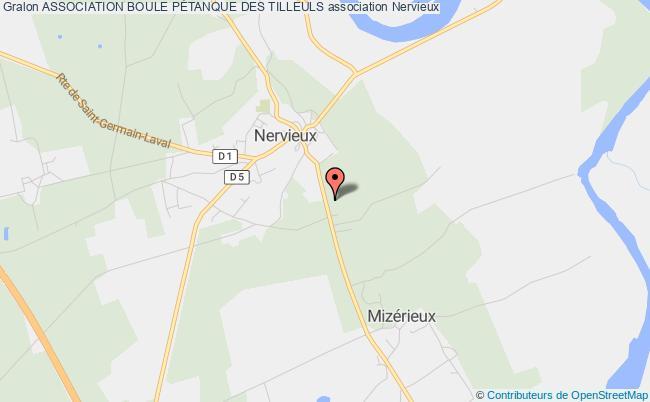 plan association Association Boule PÉtanque Des Tilleuls Nervieux