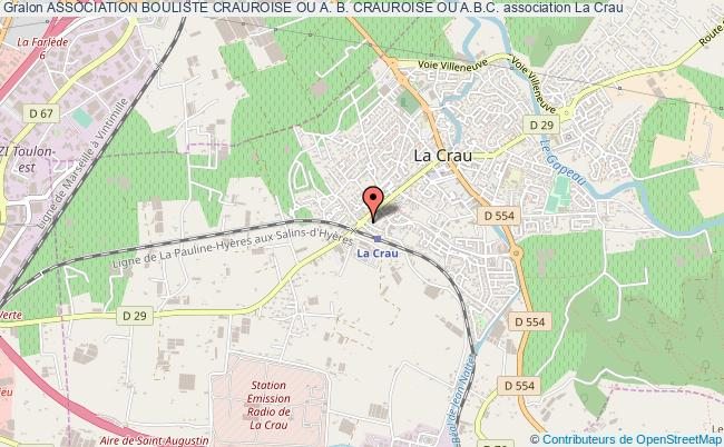 plan association Association Bouliste Crauroise Ou A. B. Crauroise Ou A.b.c.