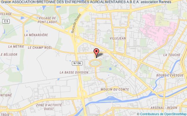 plan association Association Bretonne Des Entreprises Agroalimentaires A.b.e.a. Rennes Cedex