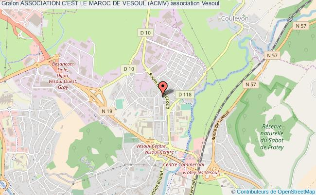 plan association Association C'est Le Maroc De Vesoul (acmv) Vesoul