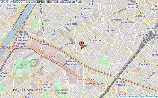 plan association Association Caceres Gestion Paris 15e