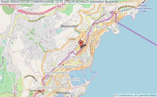 plan association Association Camerounaise Cote D'azur Monaco