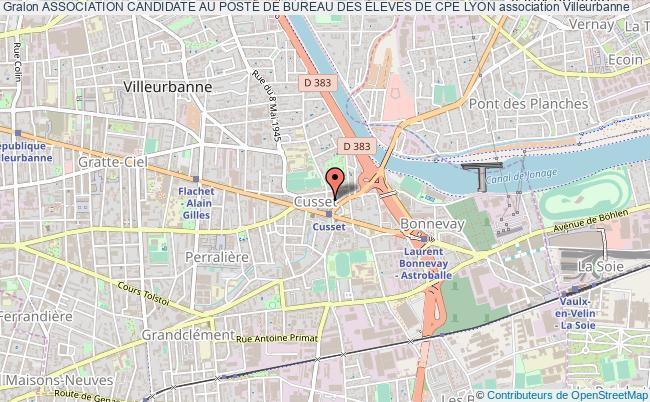 plan association Association Candidate Au Poste De Bureau Des Éleves De Cpe Lyon