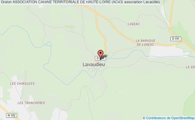 plan association Association Canine Territoriale De Haute-loire (ac43) Lavaudieu