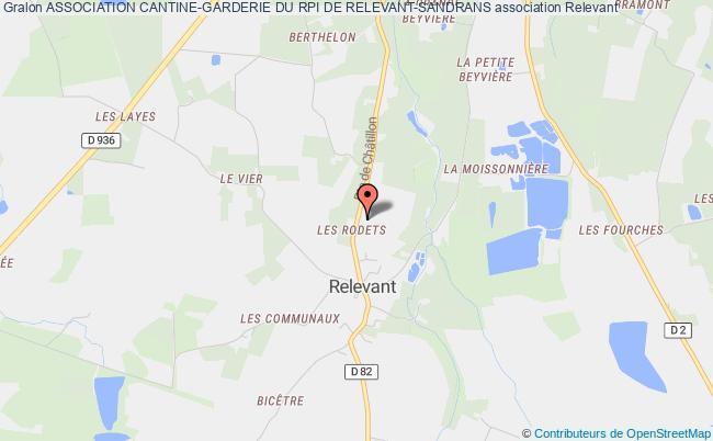 plan association Association Cantine-garderie Du Rpi De Relevant-sandrans Relevant