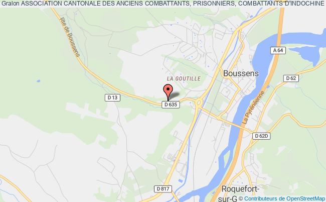 plan association Association Cantonale Des Anciens Combattants, Prisonniers, Combattants D'indochine Et D'afrique Du Nord De Boussens Boussens