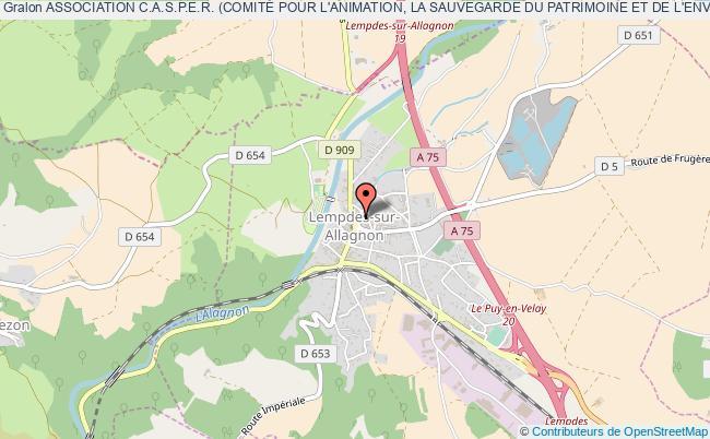 plan association Association C.a.s.p.e.r. (comitÉ Pour L'animation, La Sauvegarde Du Patrimoine Et De L'environnement De La RÉgion Pays D'allagnon) Lempdes-sur-Allagnon