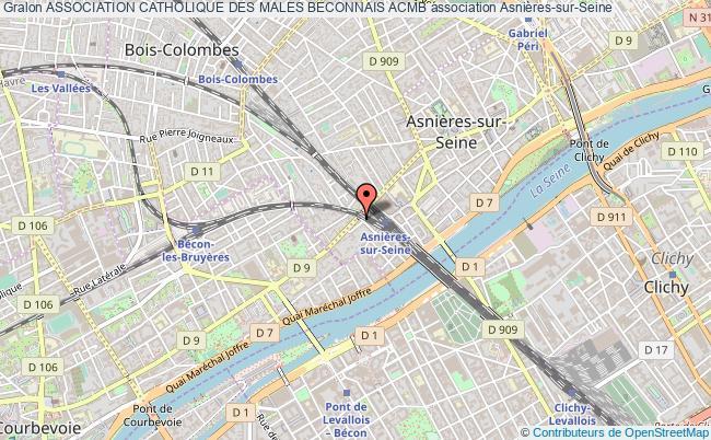 plan association Association Catholique Des Males Beconnais Acmb Asnières-sur-Seine