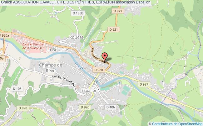 plan association Association Cavalli, Cite Des Peintres, Espalion