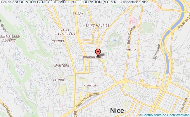 plan association Association Centre De SantÉ Nice LibÉration (a.c.s.n.l.) Nice