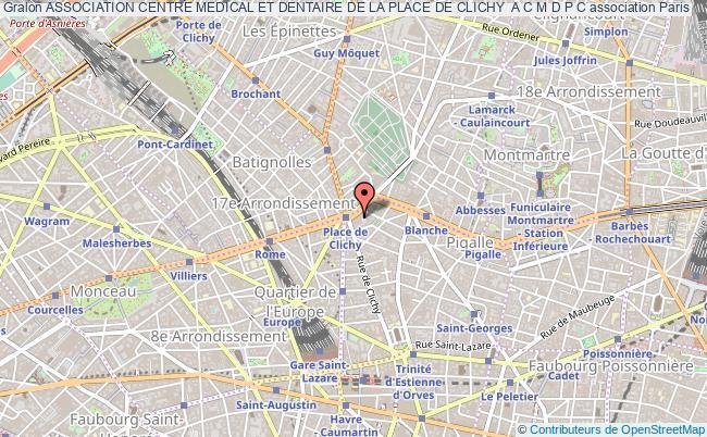 plan association Association Centre Medical Et Dentaire De La Place De Clichy  A C M D P C