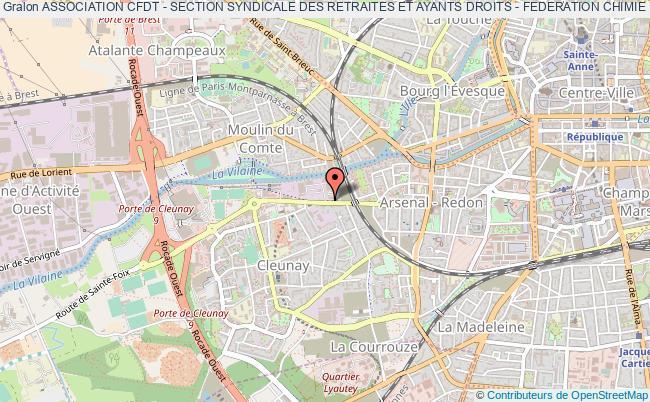 plan association Association Cfdt - Section Syndicale Des Retraites Et Ayants Droits - Federation Chimie Energie De L'ille-et-vilaine (cfdt Ssr Fce 35) Rennes