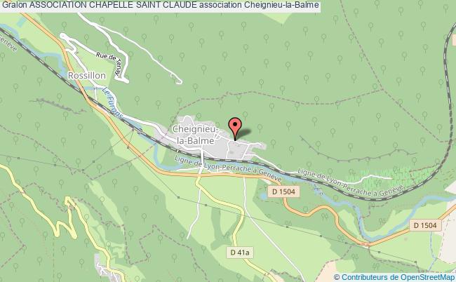 plan association Association Chapelle Saint Claude Cheignieu-la-Balme