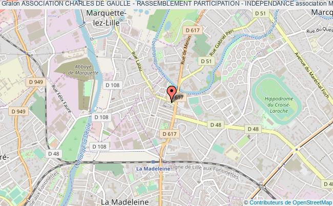 plan association Association Charles De Gaulle - Rassemblement Participation - Independance