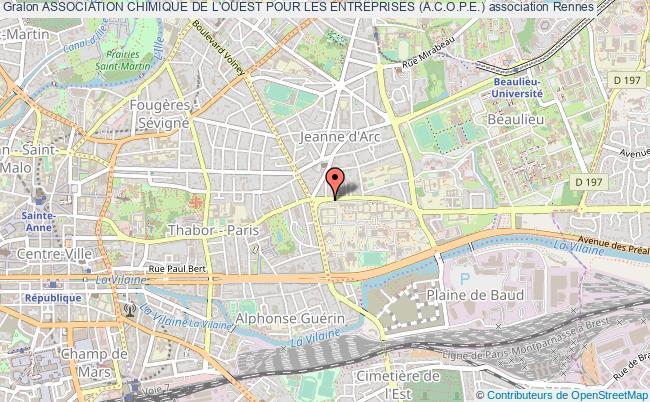 plan association Association Chimique De L'ouest Pour Les Entreprises (a.c.o.p.e.)
