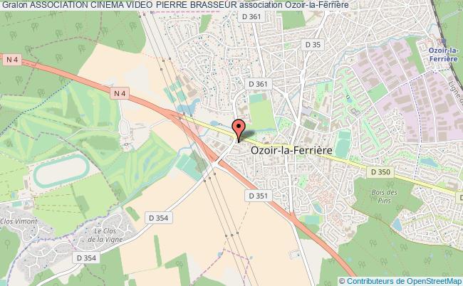 plan association Association Cinema Video Pierre Brasseur Ozoir-la-Ferrière