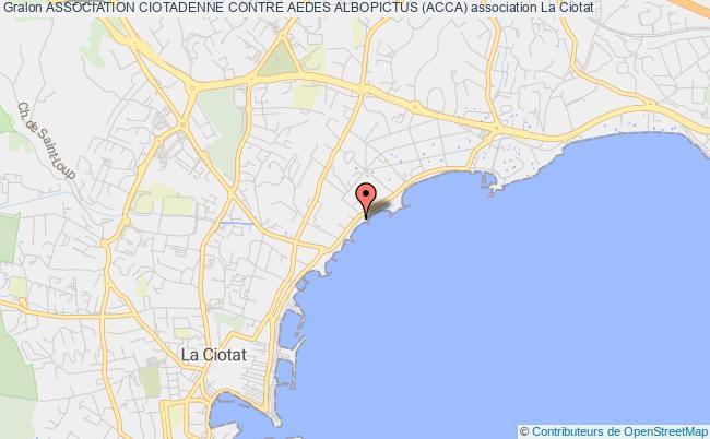 plan association Association Ciotadenne Contre Aedes Albopictus (acca)