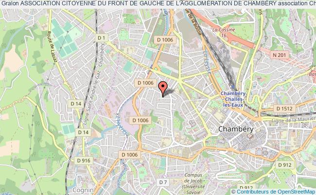 plan association Association Citoyenne Du Front De Gauche De L'agglomÉration De ChambÉry