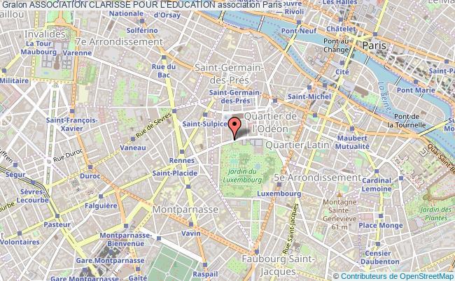 plan association Association Clarisse Pour L'education Paris 15e