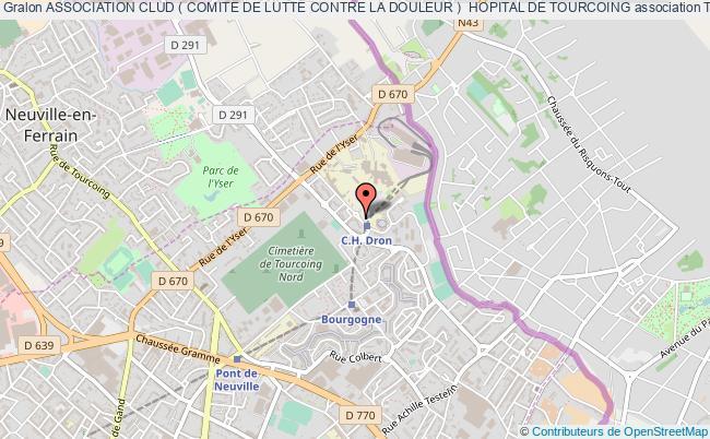 plan association Association Clud ( Comite De Lutte Contre La Douleur )  Hopital De Tourcoing Tourcoing