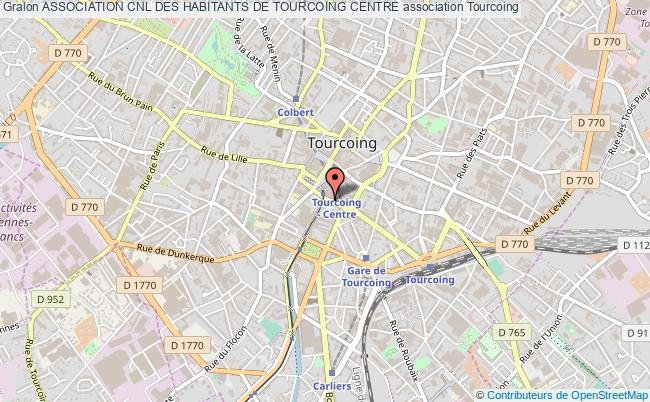 plan association Association Cnl Des Habitants De Tourcoing Centre Tourcoing