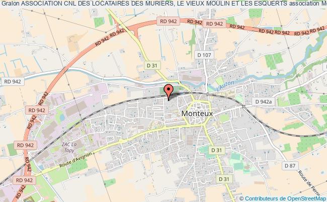 plan association Association Cnl Des Locataires Des Muriers, Le Vieux Moulin Et Les Esquerts