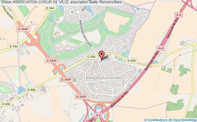 plan association Association Coeur De Ville Bailly-Romainvilliers