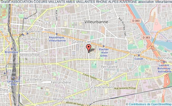plan association Association Coeurs Vaillants Ames Vaillantes Rhone Alpes Auvergne