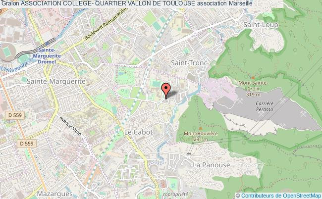 plan association Association College- Quartier Vallon De Toulouse Marseille