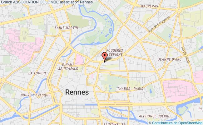 plan association Association Colombe Rennes