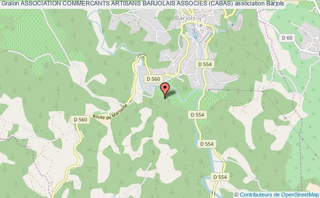 plan association Association Commercants Artisans Barjolais Associes (cabas)