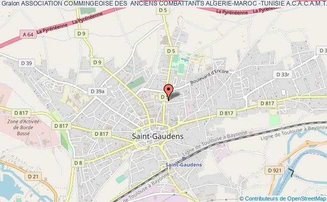 plan association Association Commingeoise Des  Anciens Combattants Algerie-maroc -tunisie A.c.a.c.a.m.t. Saint-Gaudens